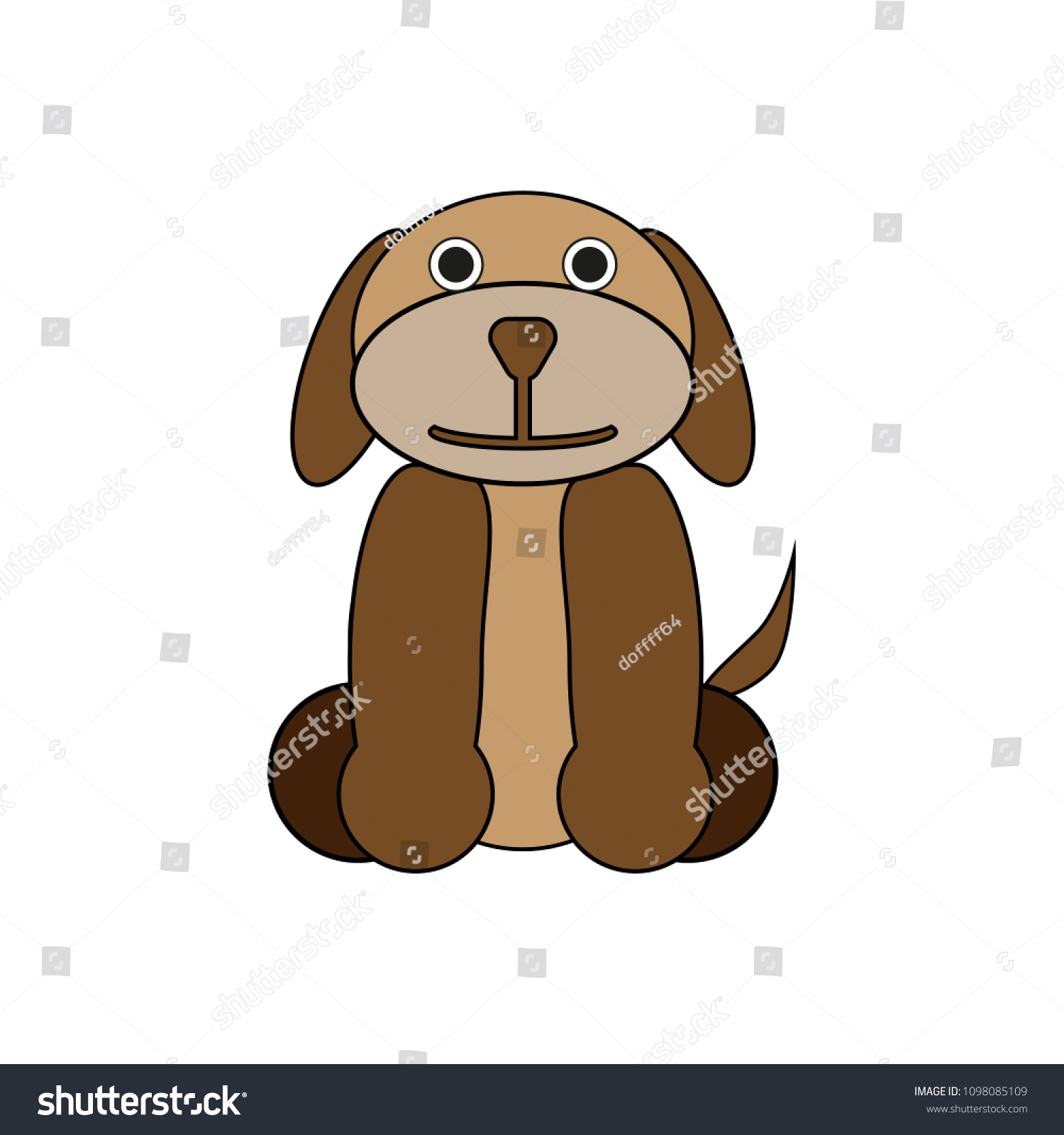 Cute Funny Cartoon Dogs Puppy Pet Stock Vector Royalty Free 1098085109