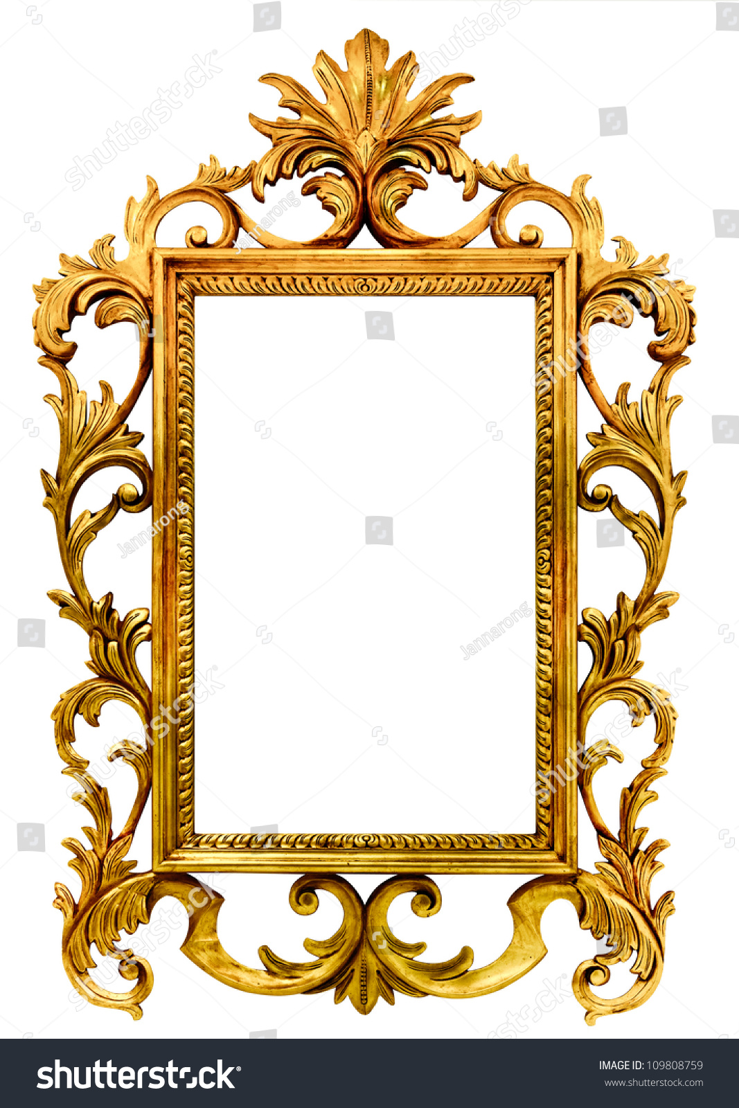 High Resolution Baroque Style Vintage Wood Stock Photo