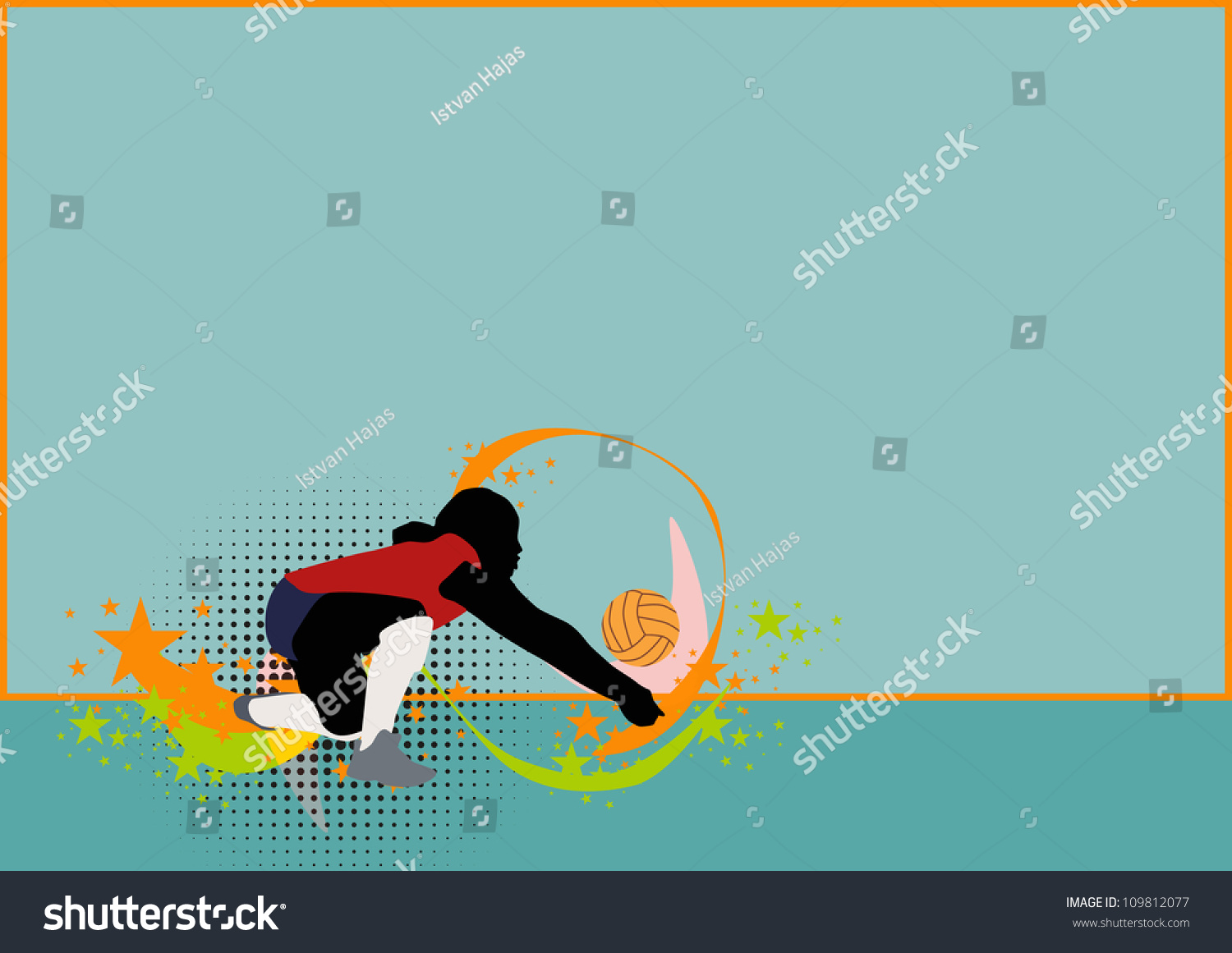 Volleyball Abstract Stock Photos Volleyball Abstract: Abstract Grunge Color Volleyball Background Space Stock