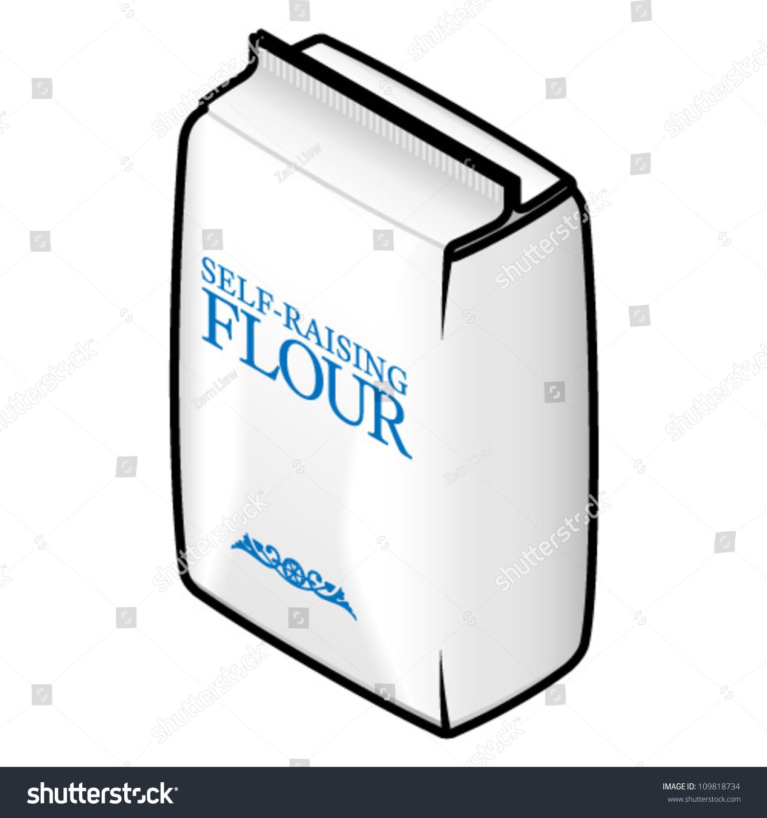 Packbag Selfraising Flour Stock Vector 109818734