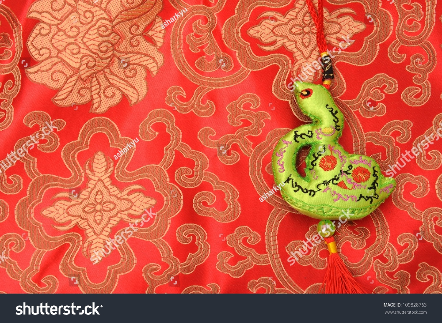 Chinese New Year Of The Snake Stock Photo 109828763 ...