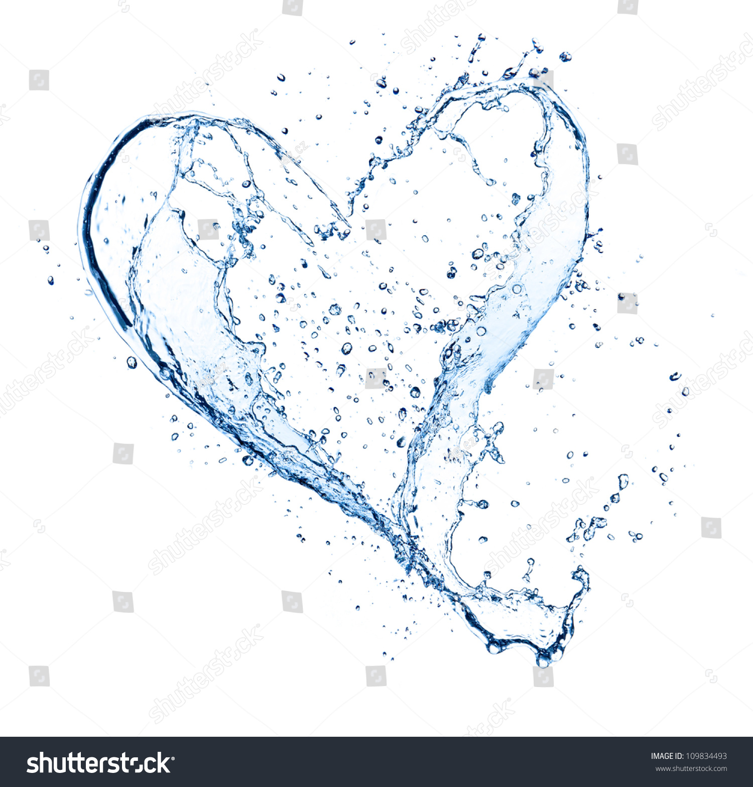 Heart Symbol Made Water Splashes Isolated Stock Photo Edit Now