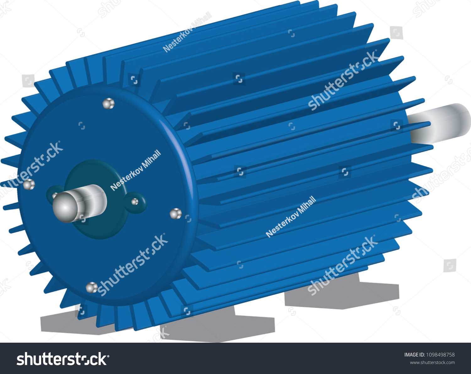 Threephase Asynchronous Motor Stock Vector 1098498758 - Shutterstock