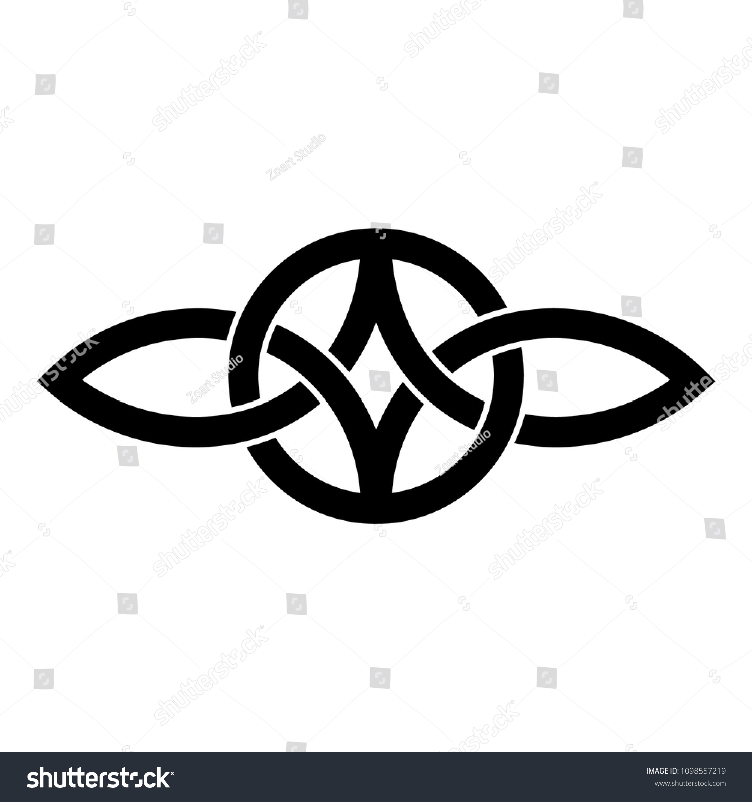 Everlasting Love Symbol Celtic Knot Stock Vector Royalty Free