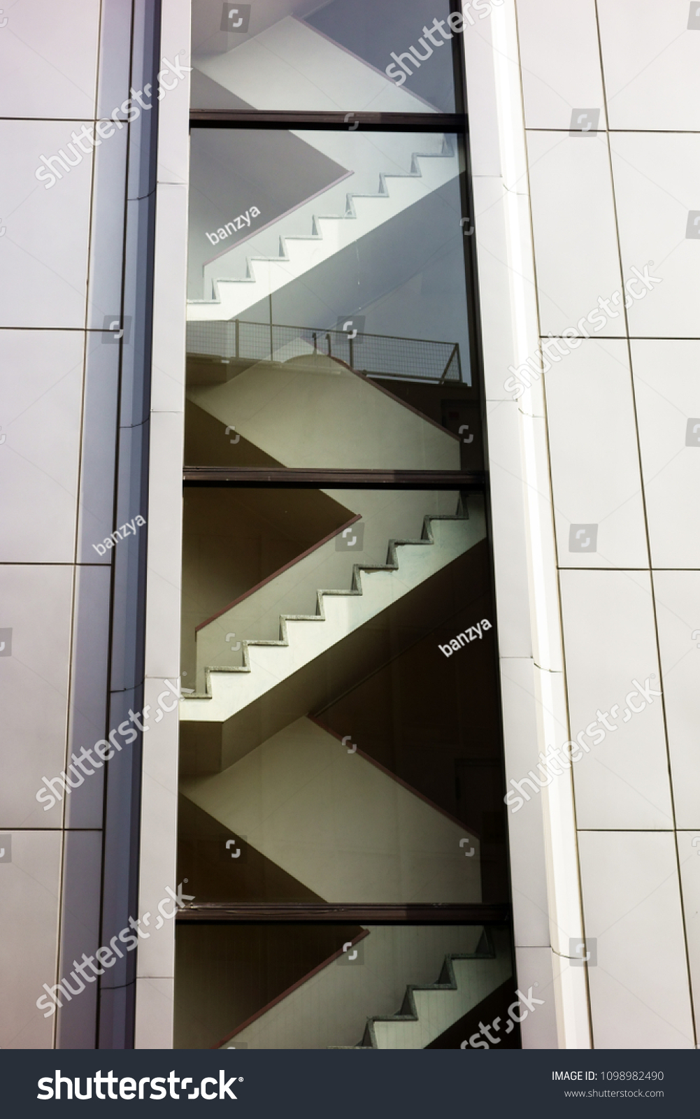 Outer Wall Building Where Stairs Can Stock Photo (Edit Now) 24
