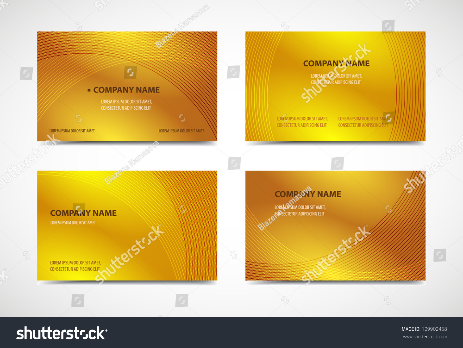 Professional Designer Business Card Templates Variety Stock Vector ...