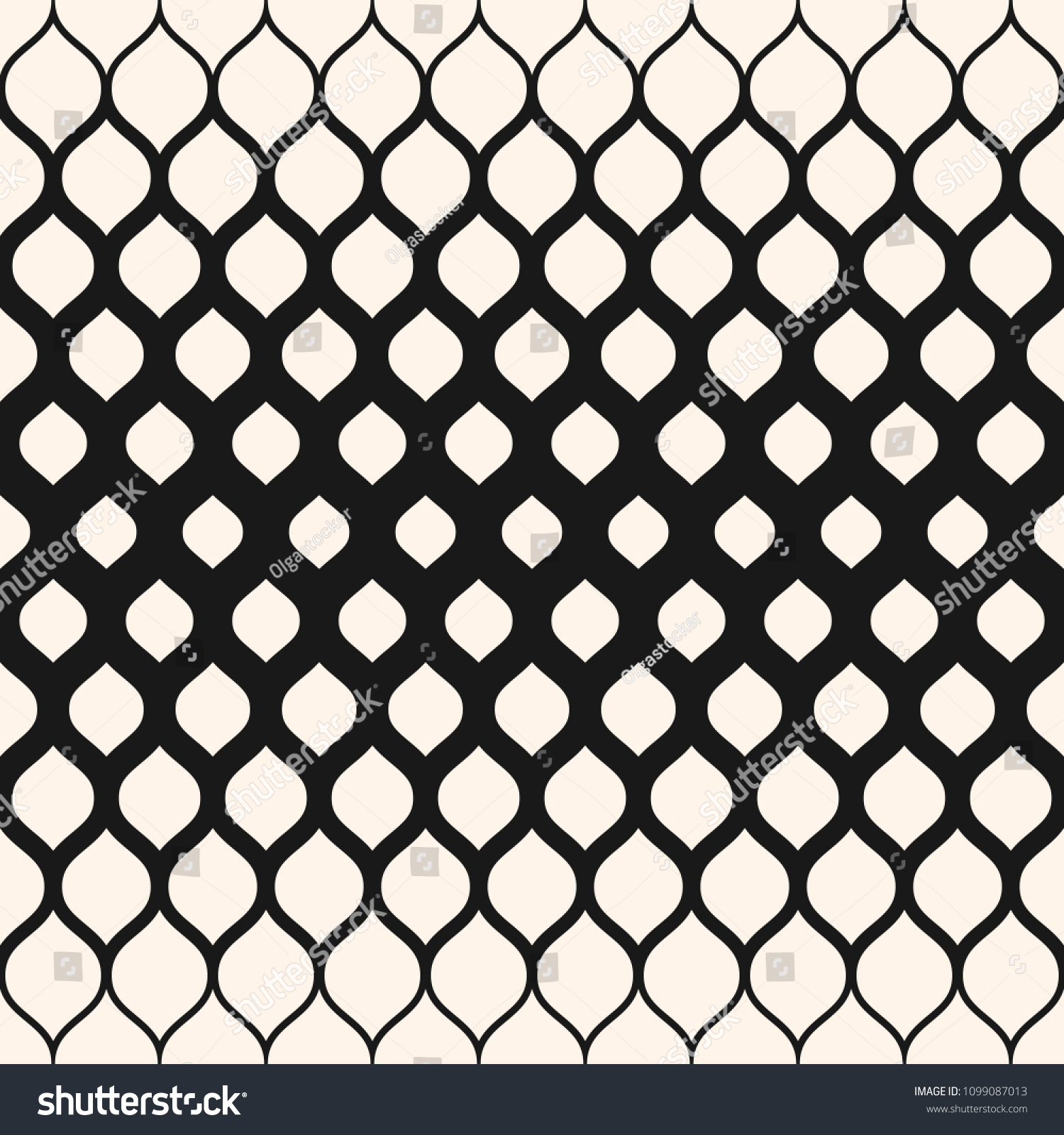 Raster Seamless Pattern Monochrome Background With Halftone Transition Effect, Vertical