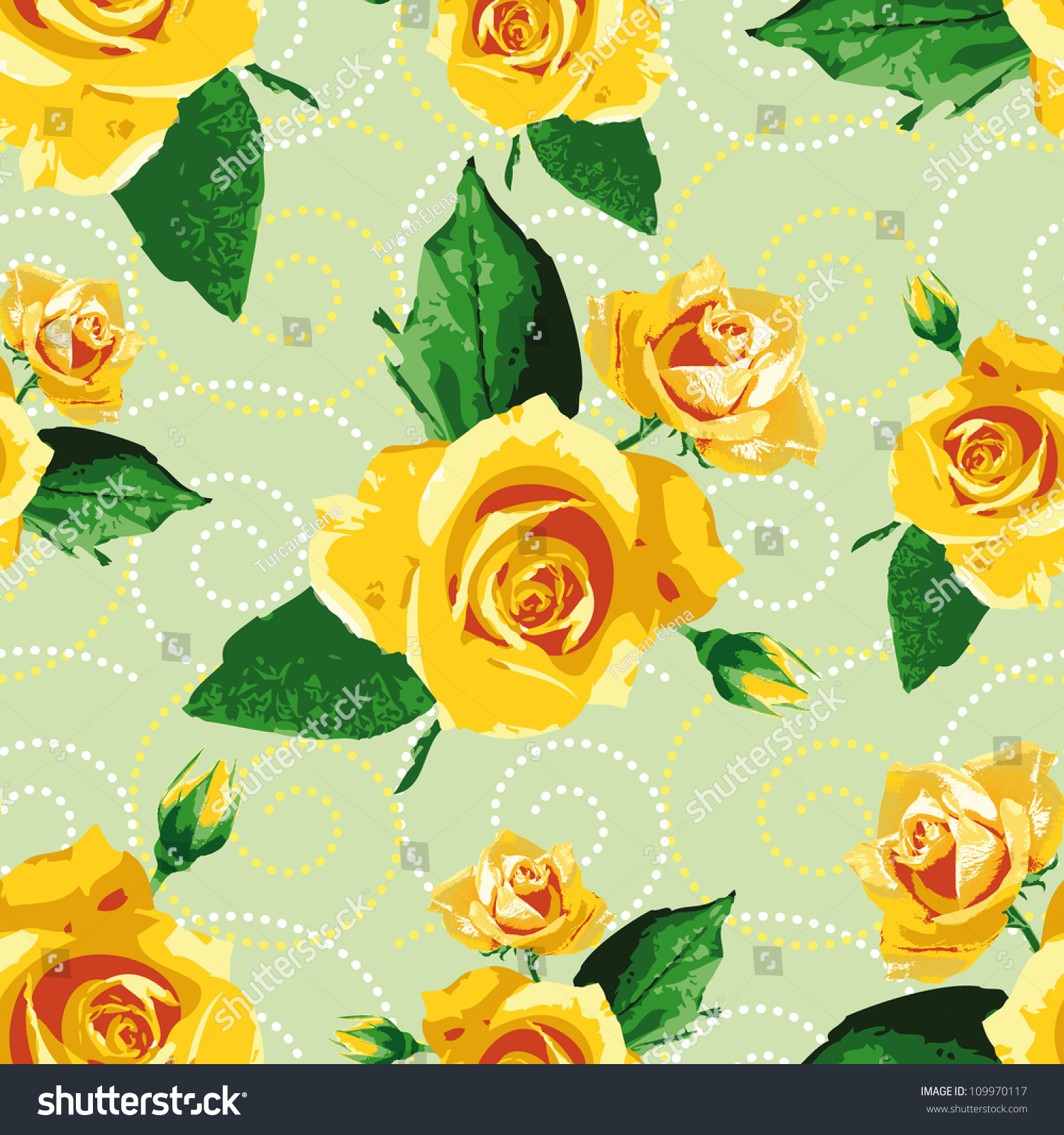Wallpaper Of Yellow Rose: Seamless Background/ Pattern/ Wallpapers With Yellow Rose