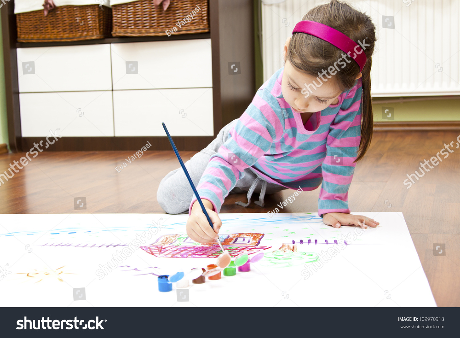 Drawing My Dream House Stock Photo 109970918 Shutterstock