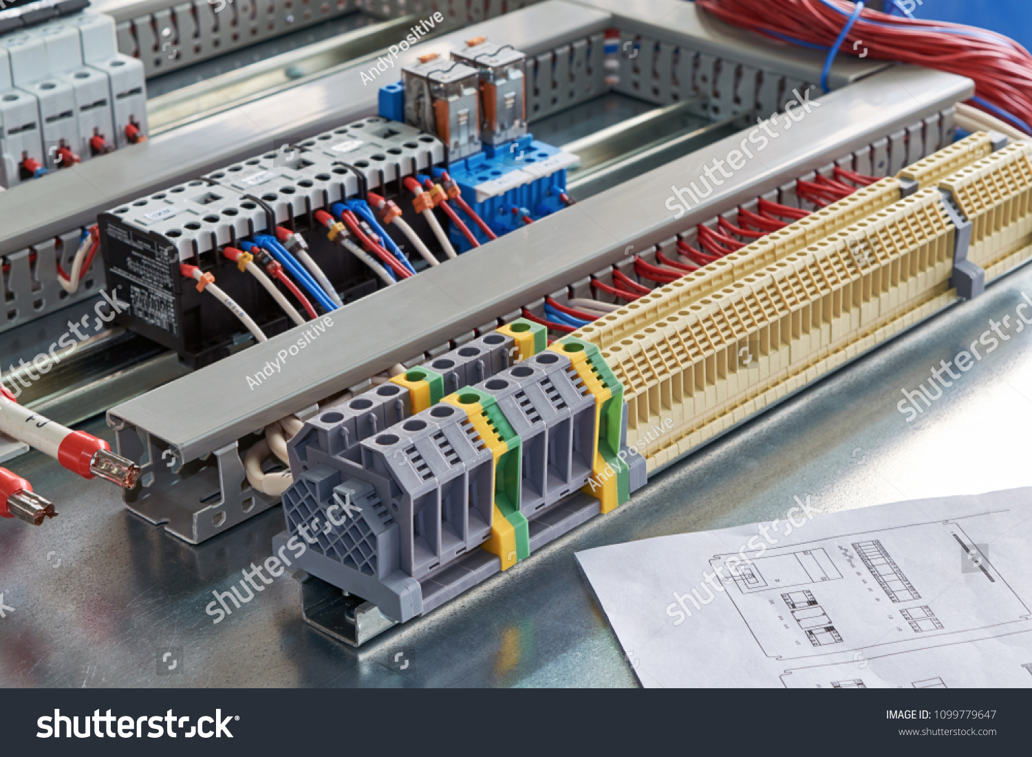 Terminals Contactors Relays Circuit Breakers Electrical Stock Photo ...