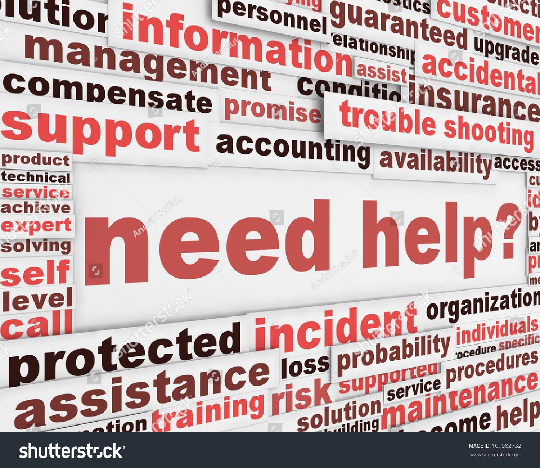 Poster design help - Need Help Slogan Poster Design Customer Support Message Concept