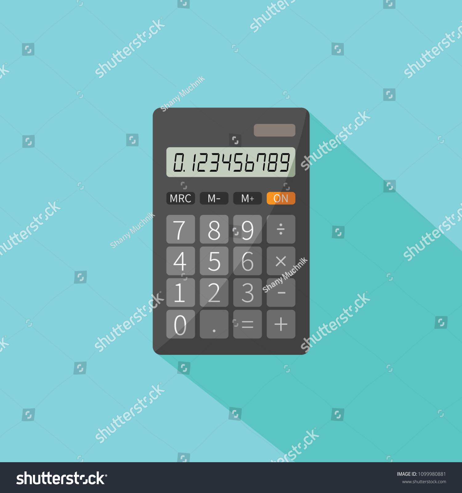 Mathematical Exercise Personal Basic Digital Electronic Stock Vector ...