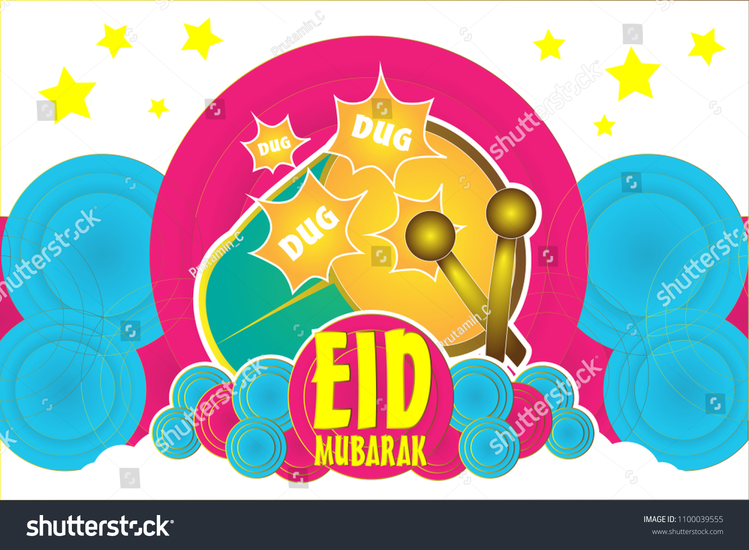 Eid mubarak has mean musim event stock vector 1100039555 shutterstock eid mubarak has mean musim event or holiday with the beduk or traditional music instrument background m4hsunfo