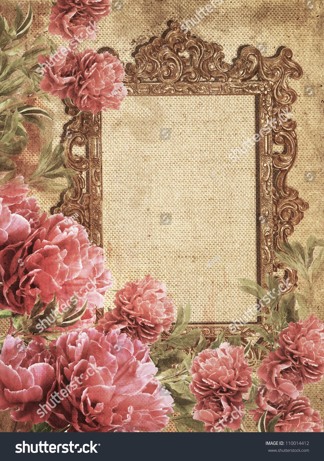 Romantic Vintage Photo Frame 110014412 Shutterstock