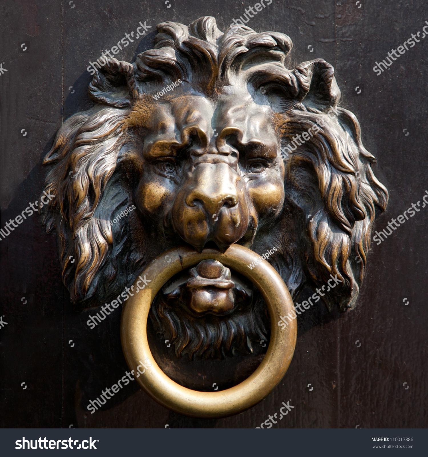 Antique Lionu0027s Head Doorknocker In Aachen, Germany