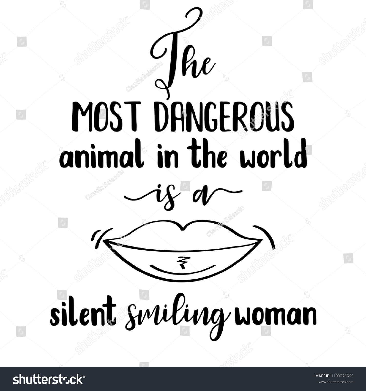 Funny Quote Most Dangerous Animal World Stock Vector Royalty Free
