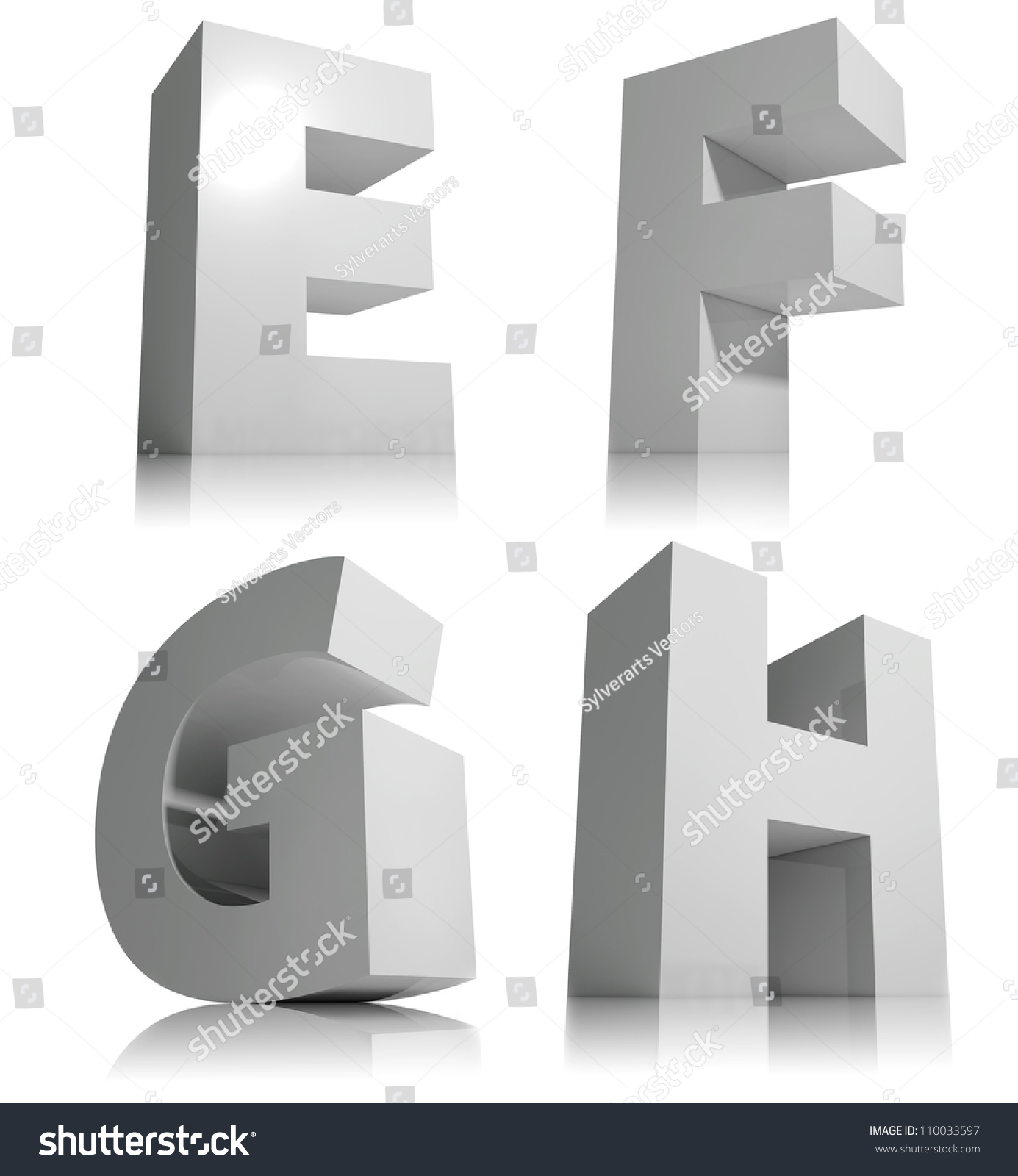 Big 3d Letters Isolated On White Stock Illustration 110033597 ...