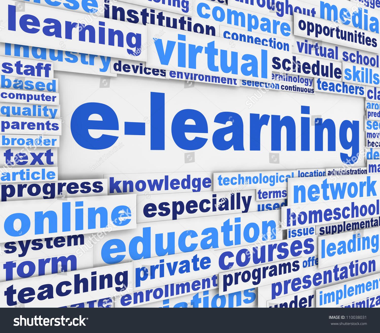 Elearning Slogan Poster Conceptual Design Online Stock ...