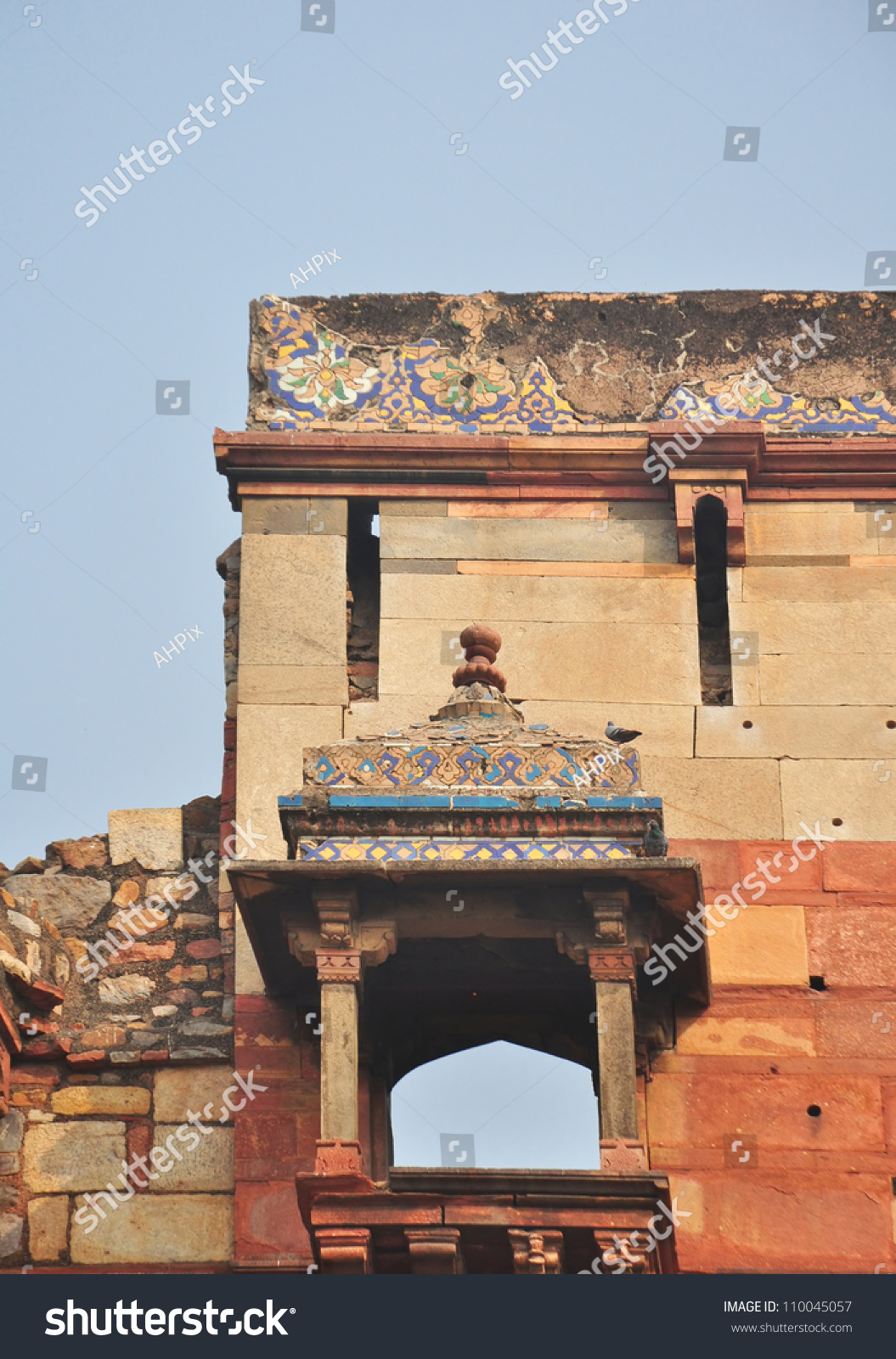 Blue tile decorations on chatri over stock photo 110045057 for International decor main gates