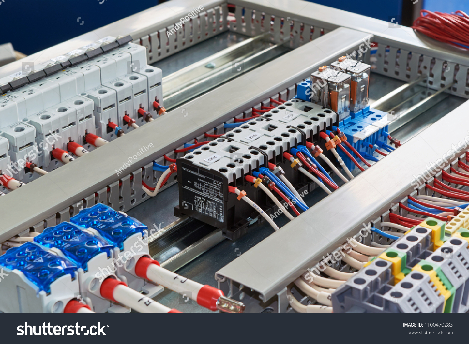 Contactors Relays Circuit Breakers Terminals Electrical Stock Photo ...
