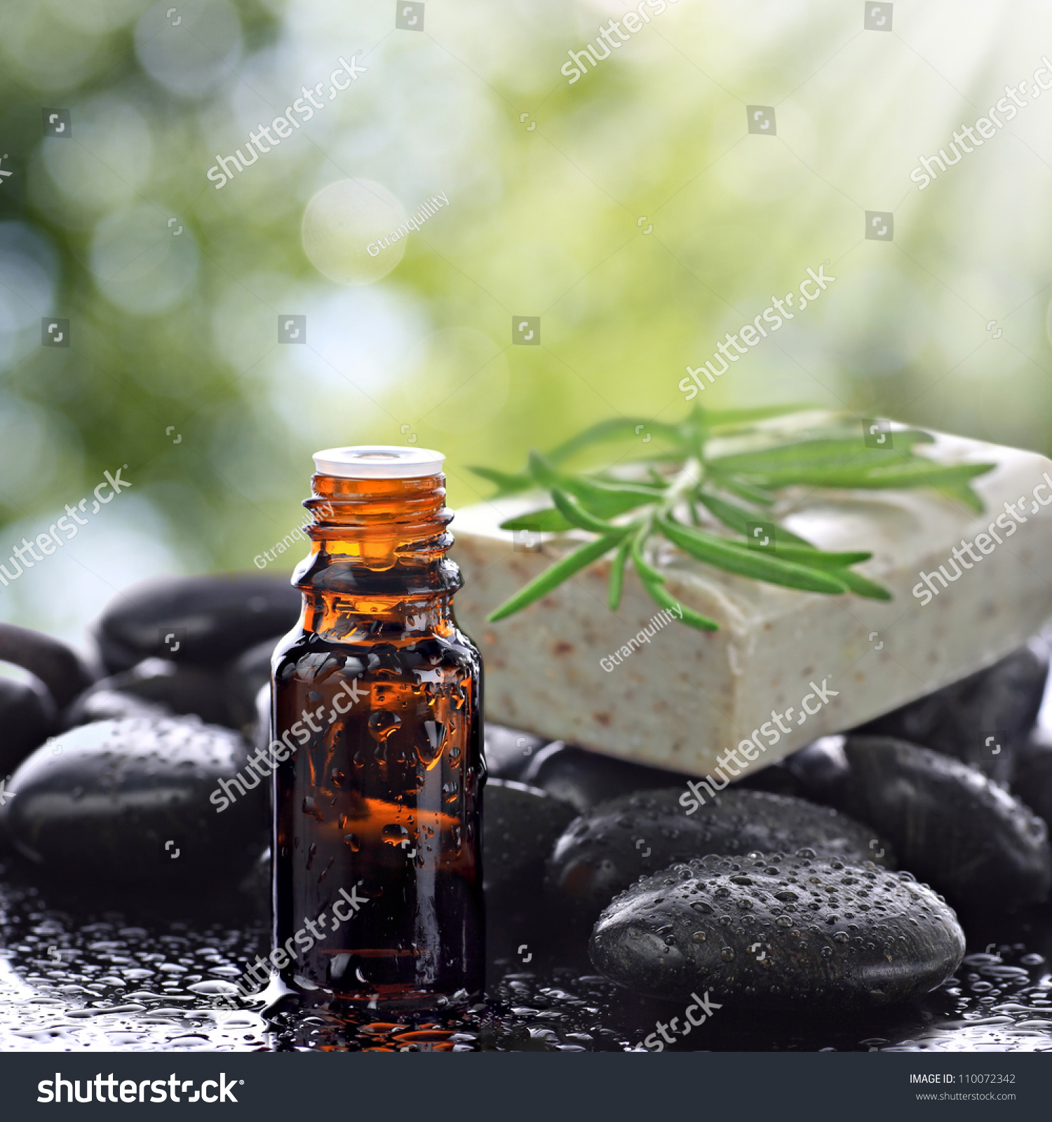 Aromatherapy Essential Oil Bottle With Natural Soap Bar