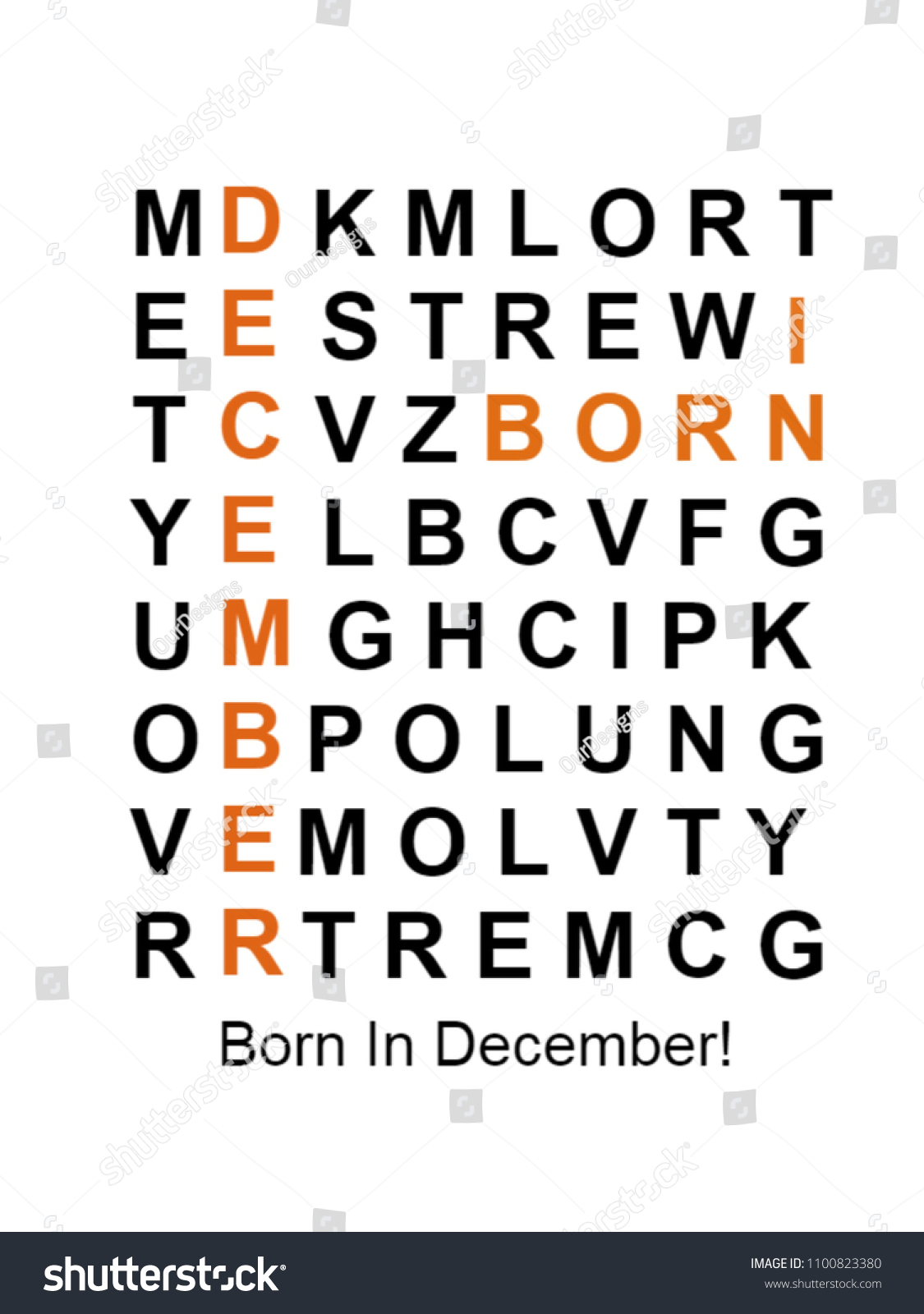 Born In December Puzzle Birthday Gift For Men Women Males Females Son Daughter Mom Dad Sister
