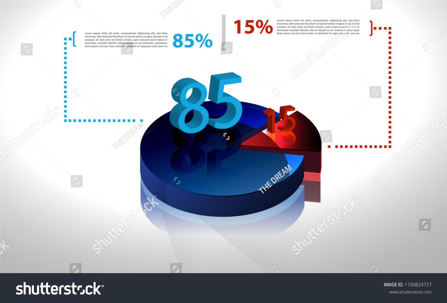 Vector Business Template Cycle Percentage Flow Stock Vector Royalty