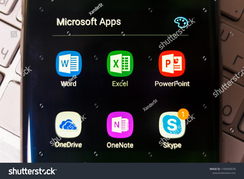 20180423 Kazan Russia Microsoft Applications Icons Stock Photo (Edit