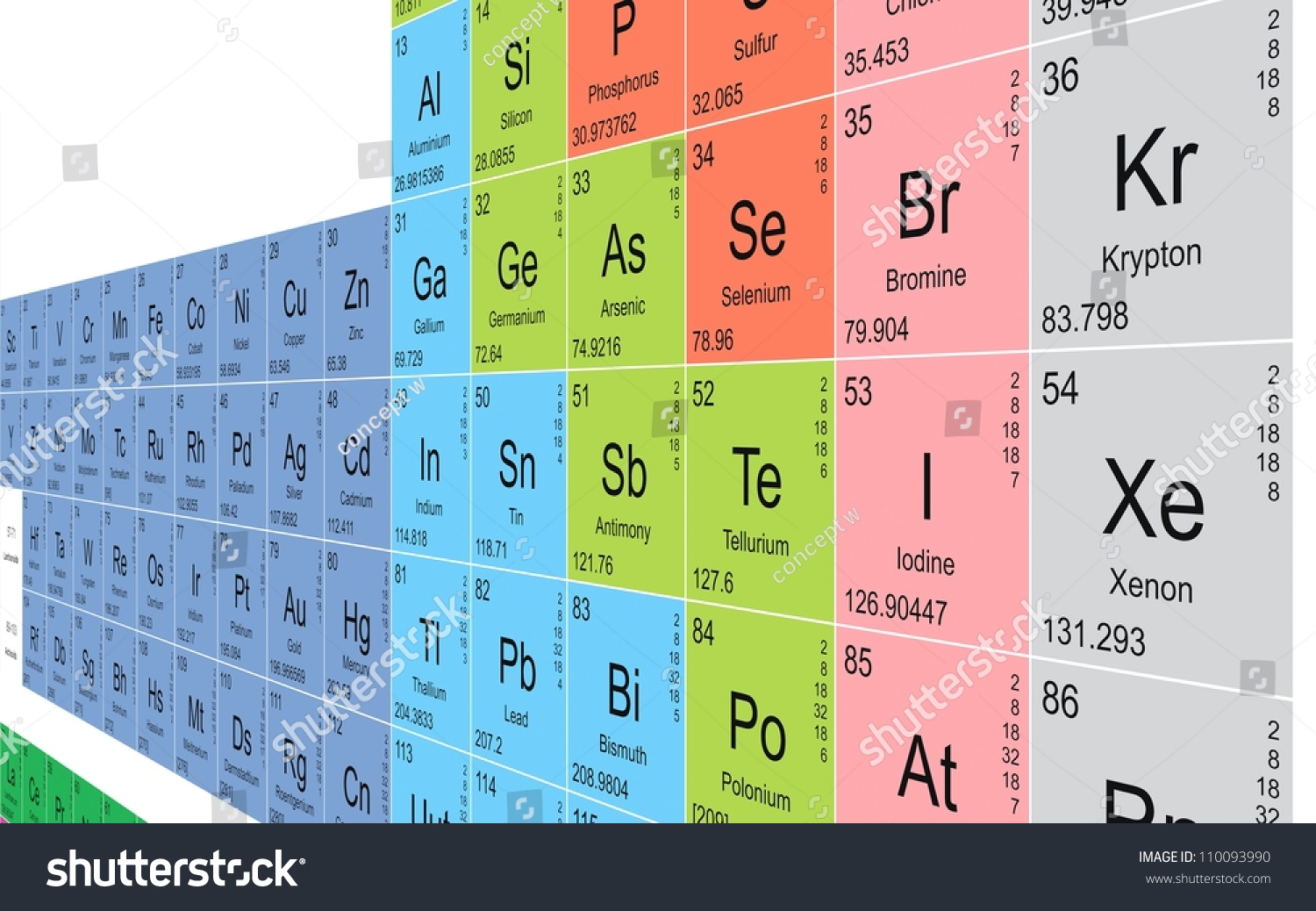 Periodic table background stock illustration 110093990 shutterstock periodic table background gamestrikefo Images