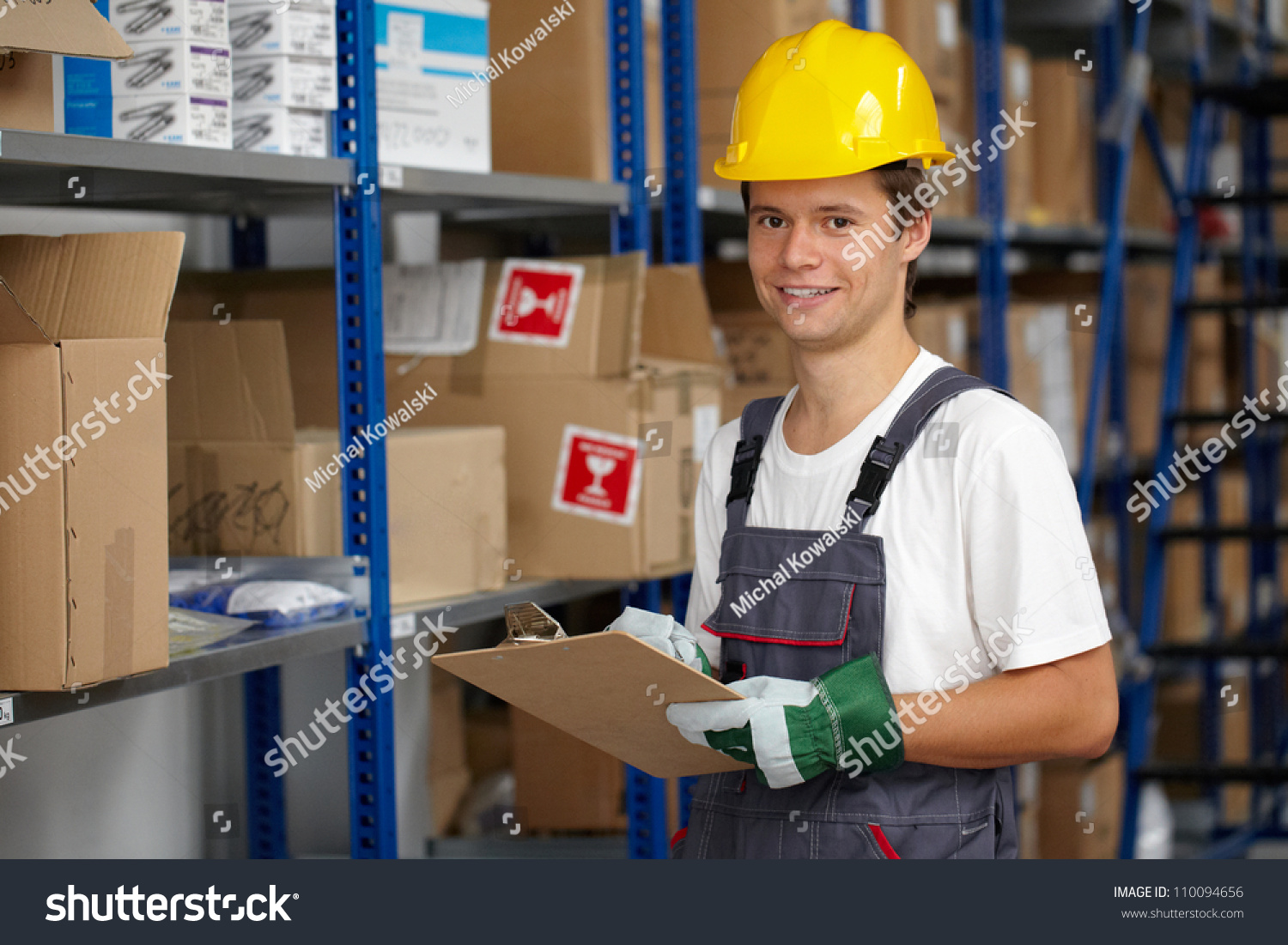 Young warehouse worker do some stock stock photo 110094656 young warehouse worker do some stock check sciox Choice Image