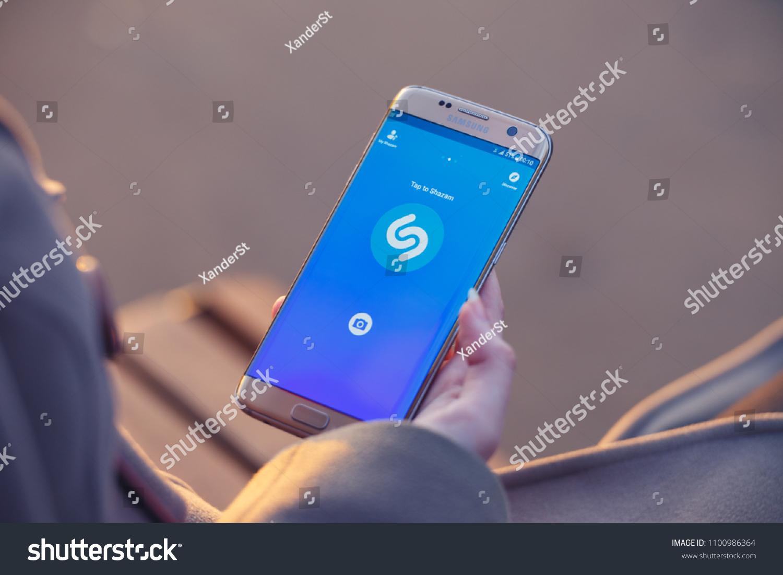 20180423 Kazan Russia Shazam Music App Stock Photo (Edit Now