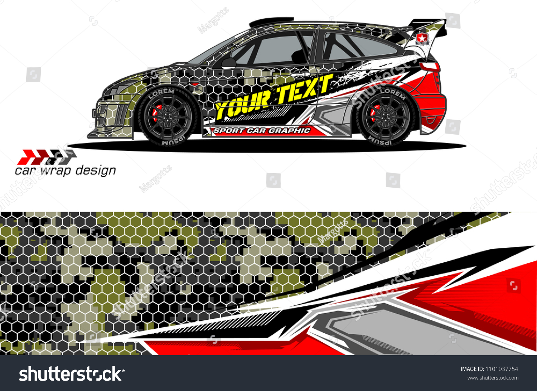 Race Car Livery Vector Designs Abstract Stock Vector