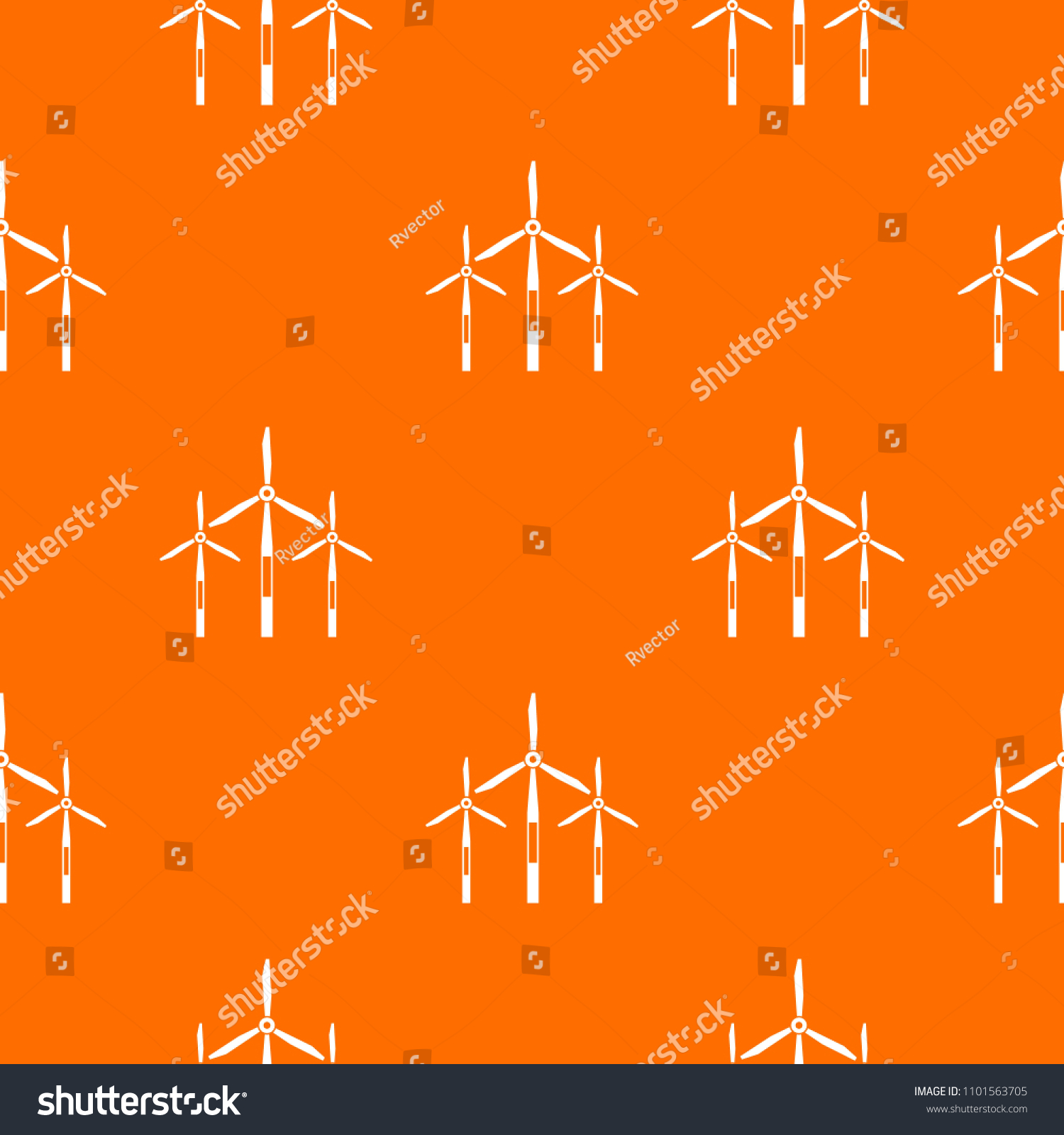 Wind Generator Turbines Pattern Repeat Seamless Stock