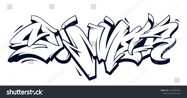 Summer graffiti vector original lettering summer word written in graffiti wild style monochrome vector illustration