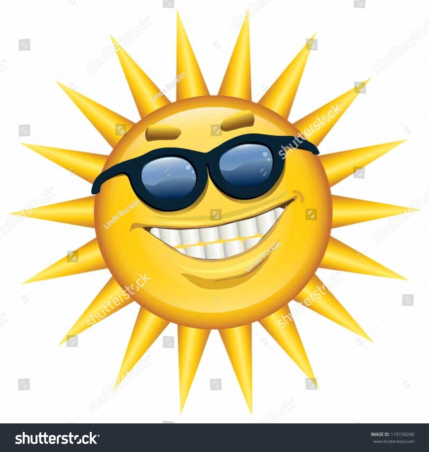 Smiling sun images - A Happy Cheerful Smiling Sun Wearing Sunglasses