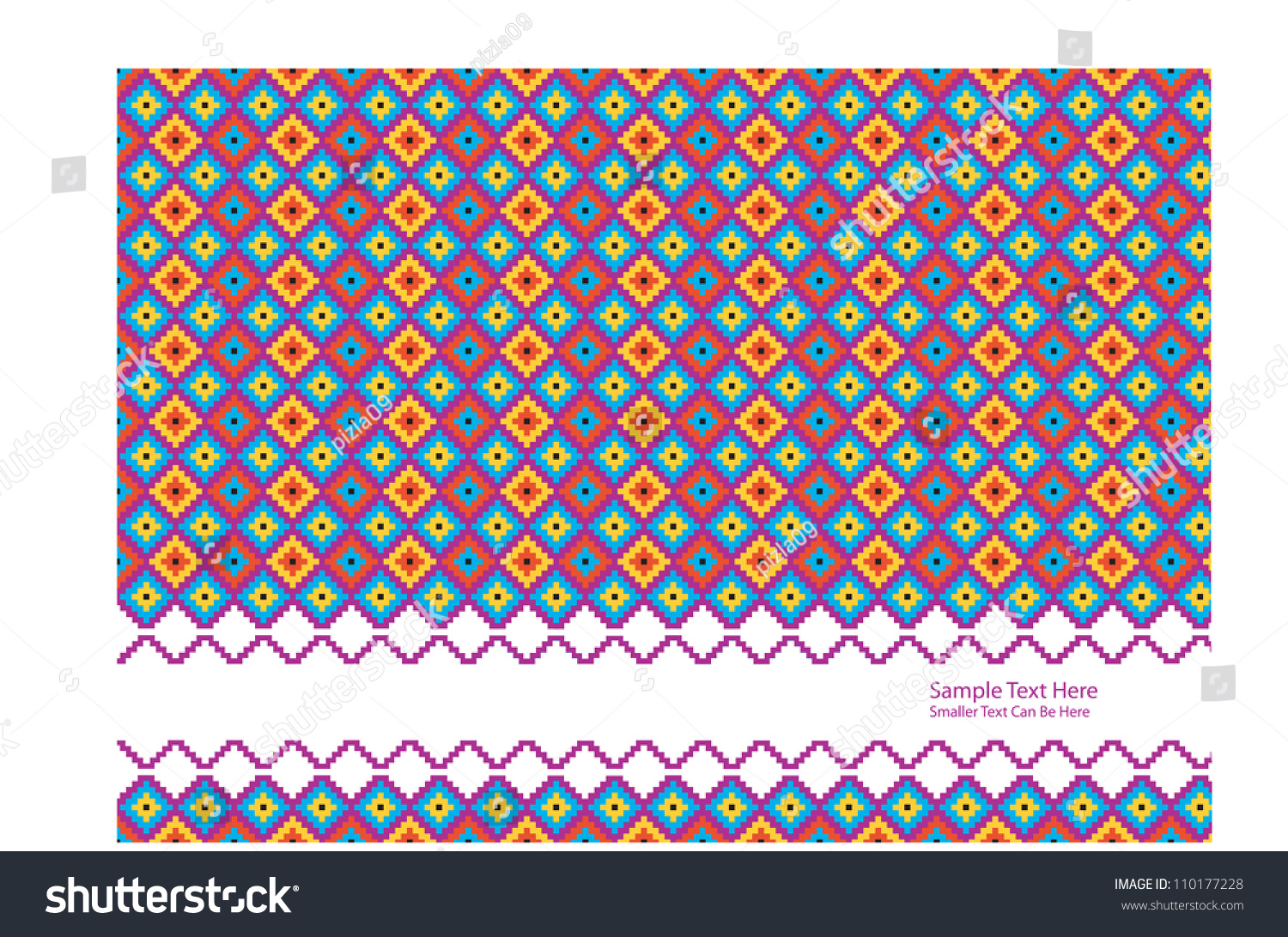 Color Abstract Vector Background Text Frame Stock Vector: Abstract Vector Backdrop Design With Colorful Primitive