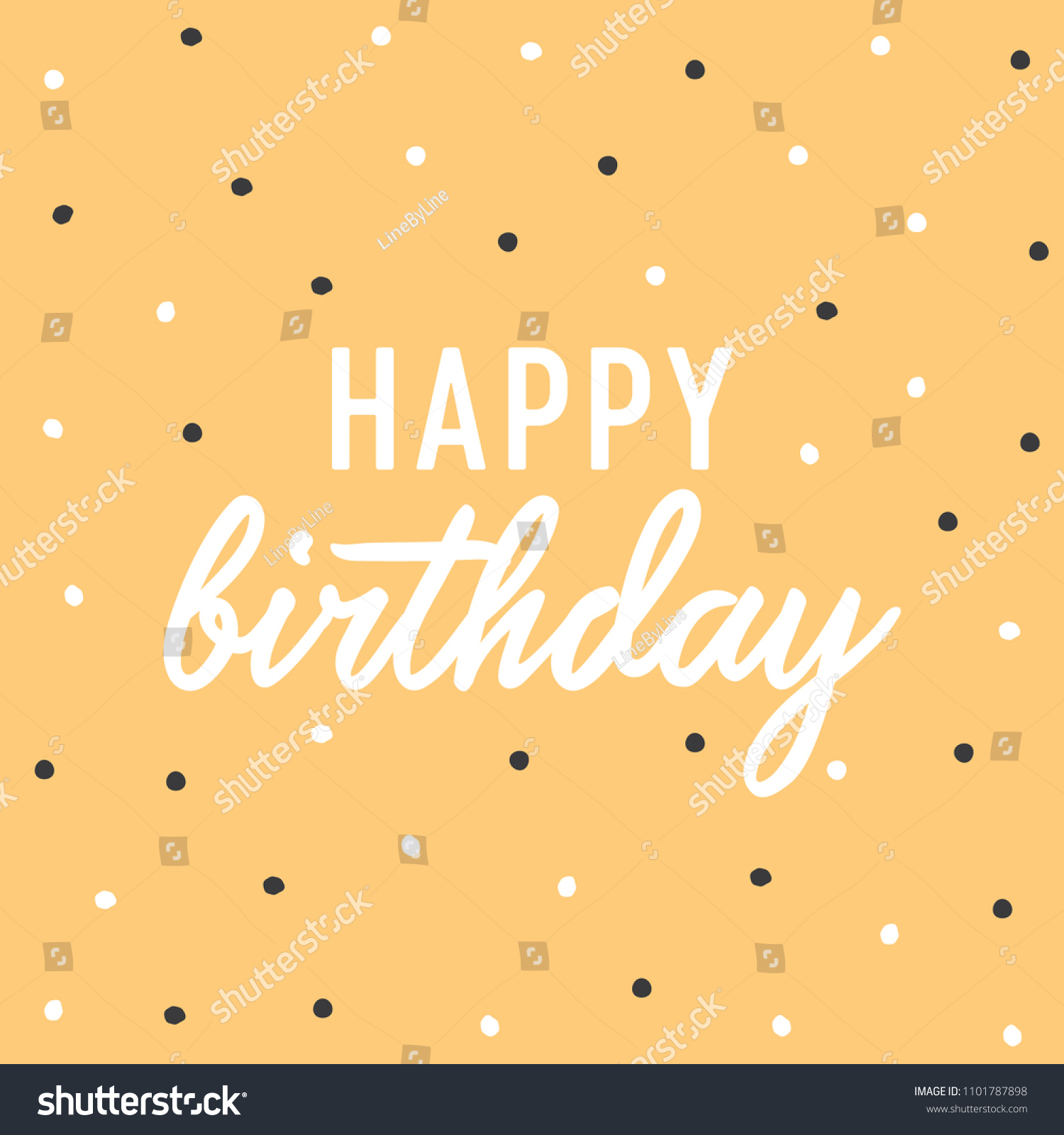 happy birthday typography text vector background stock vector