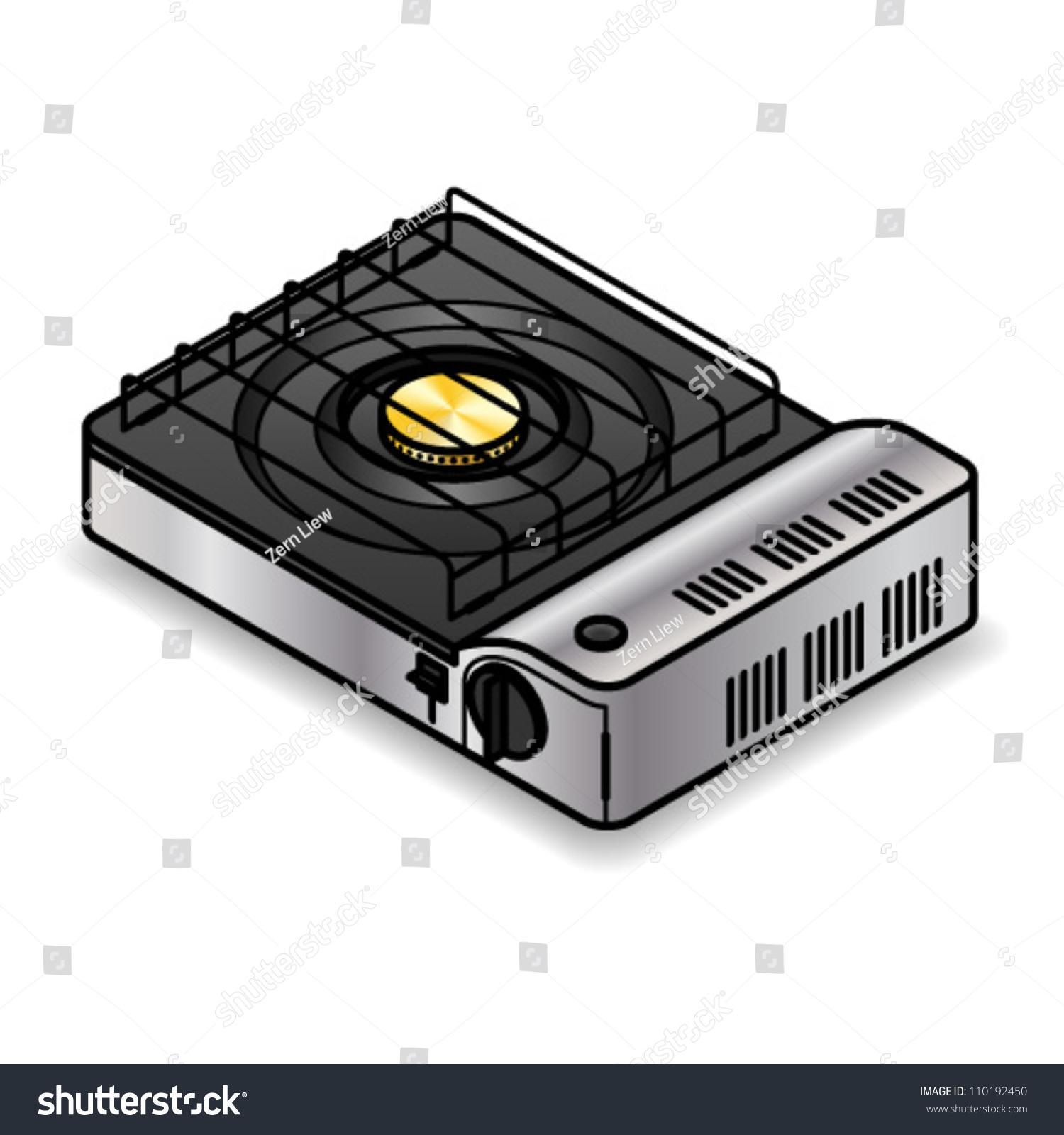 Portable Tabletop Gas Stove Stock Vector 110192450