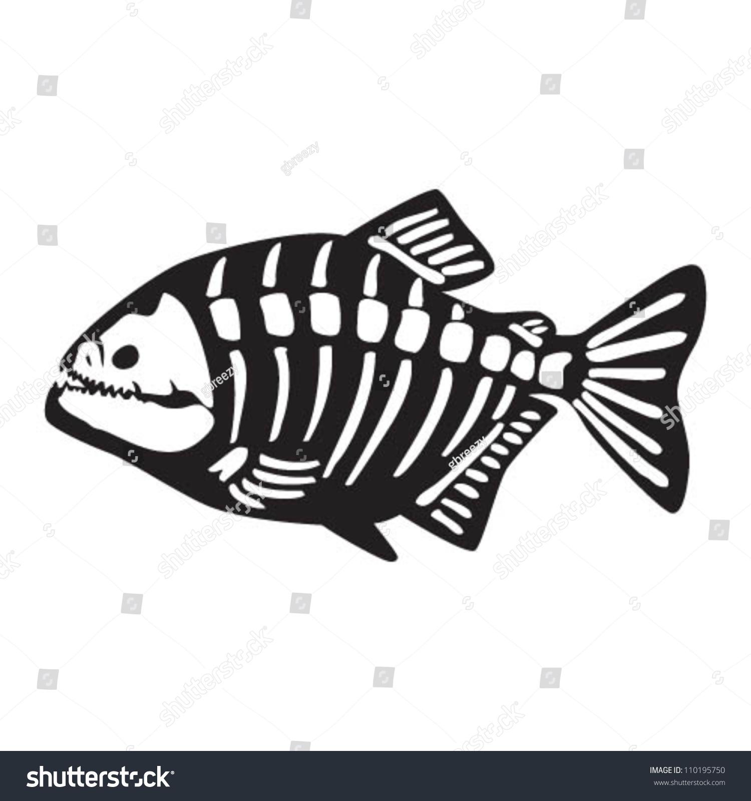 Piranha Skeleton Vector de stock (libre de regalías)110195750 ...