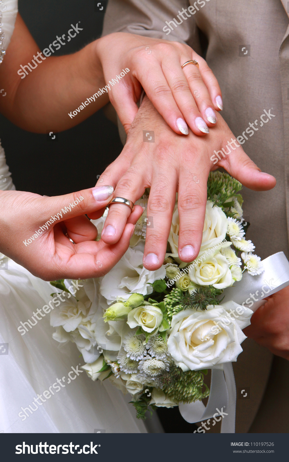 Bride Dresses Wedding Ring Groom Stock Photo (Download Now ...