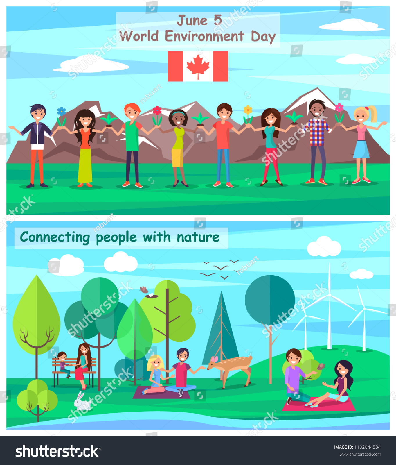 June 5 World Environment Day Poster Stock Vector Royalty Free