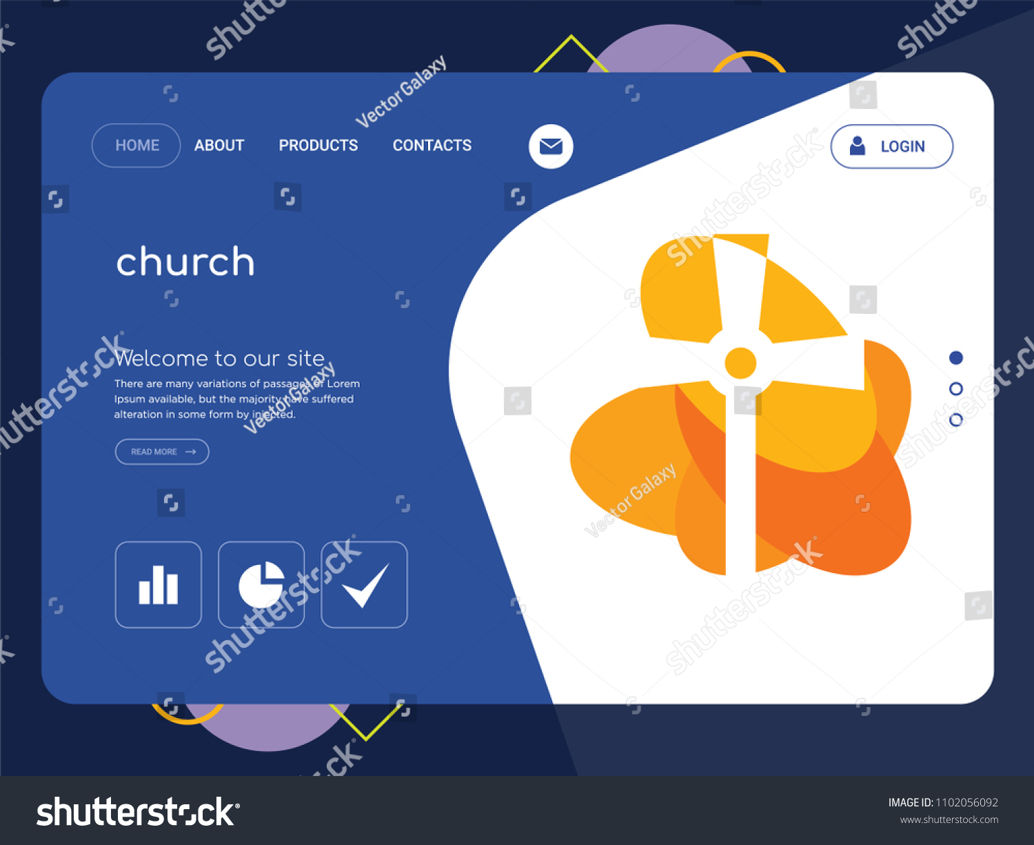 Quality one page church website template stock vector 1102056092 quality one page church website template stock vector 1102056092 shutterstock maxwellsz