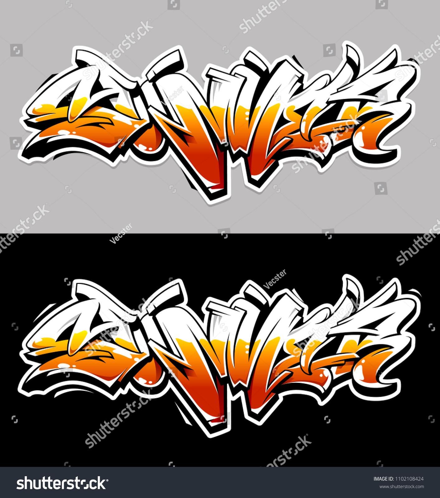 Summer graffiti vector original lettering summer word written in graffiti wild style vector illustration