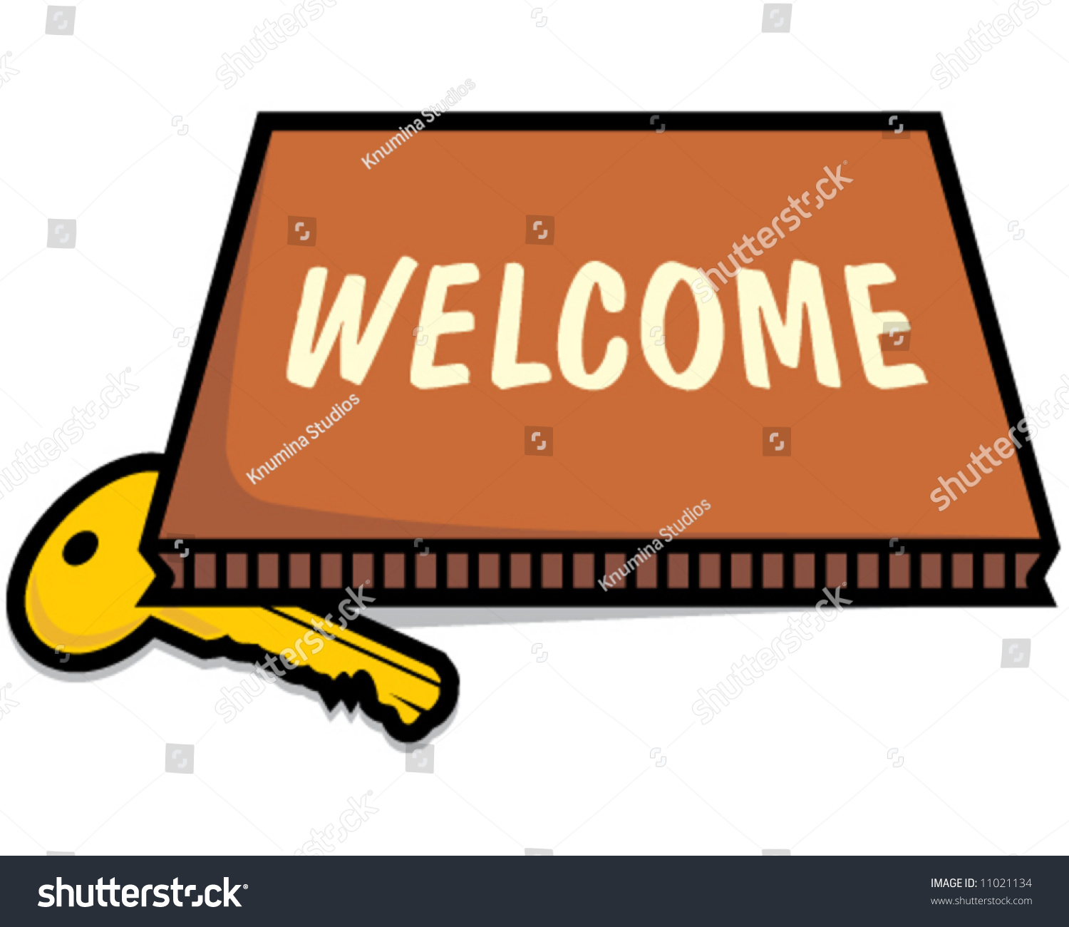 vector key under welcome mat concept stock photo photo vector rh shutterstock com  free clipart welcome mat