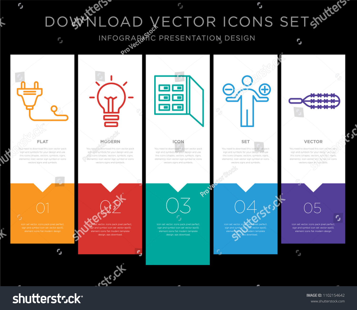 5 Vector Icons Such Plug Light Stock Royalty Free Fuse Box As Bulb Analytics Wires