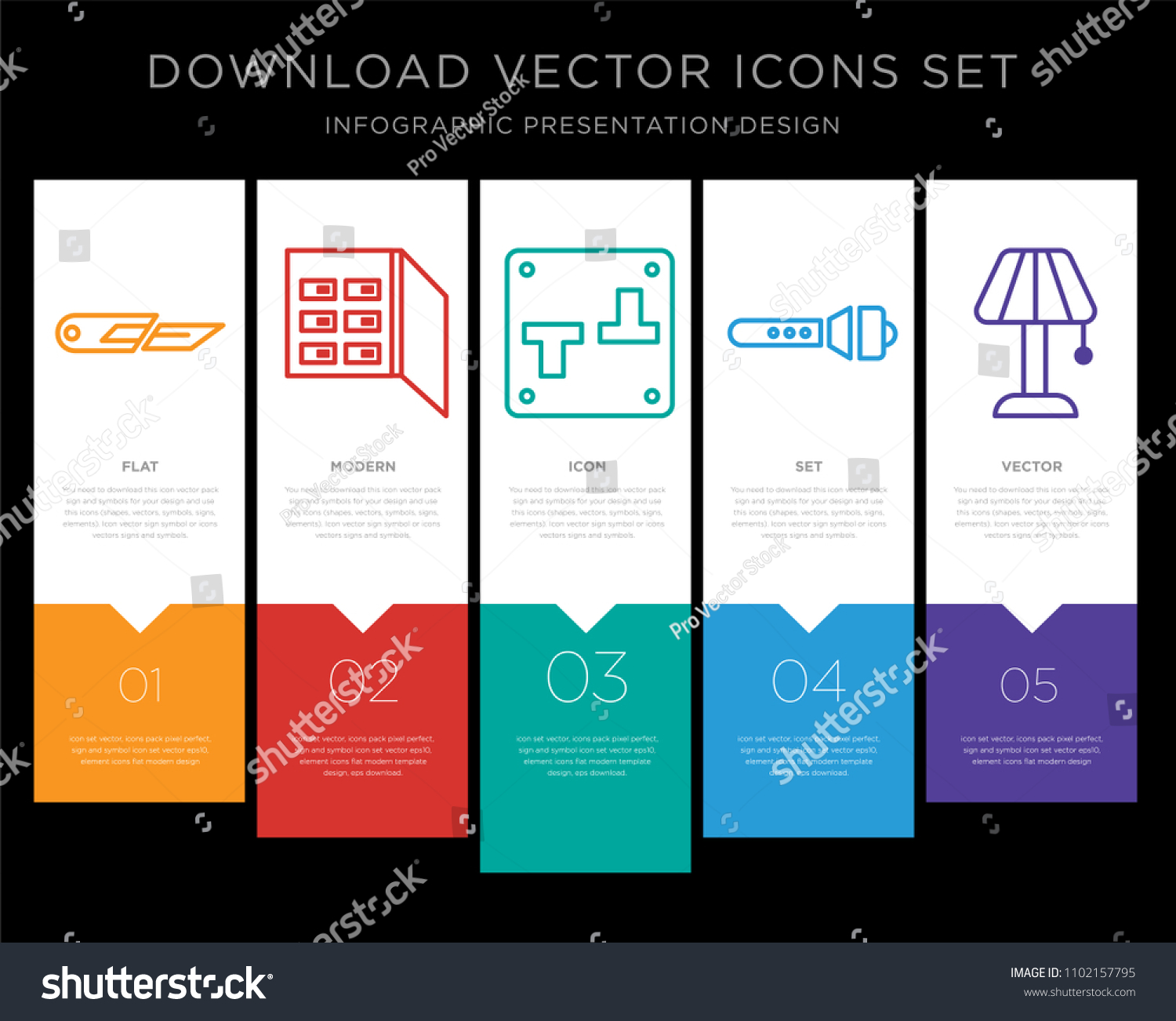 5 Vector Icons Such Cutter Fuse Stock Vector 1102157795 - Shutterstock