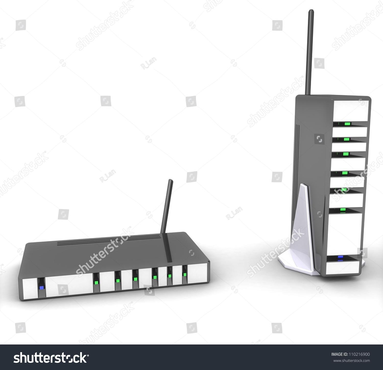 3d Wireless Modem Router Stock Illustration 110216900 - Shutterstock