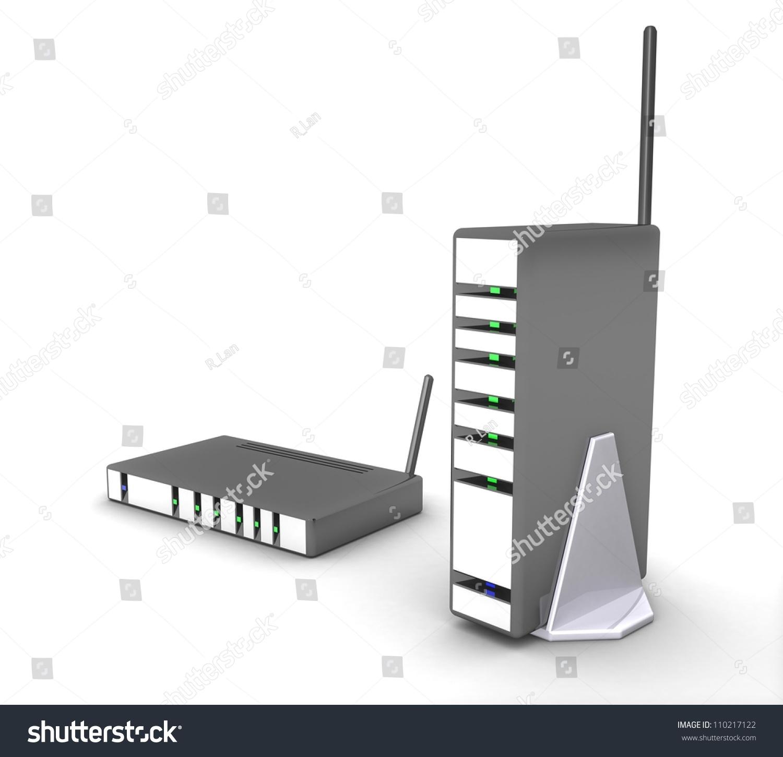 3d Wireless Modem Router Stock Illustration 110217122 - Shutterstock