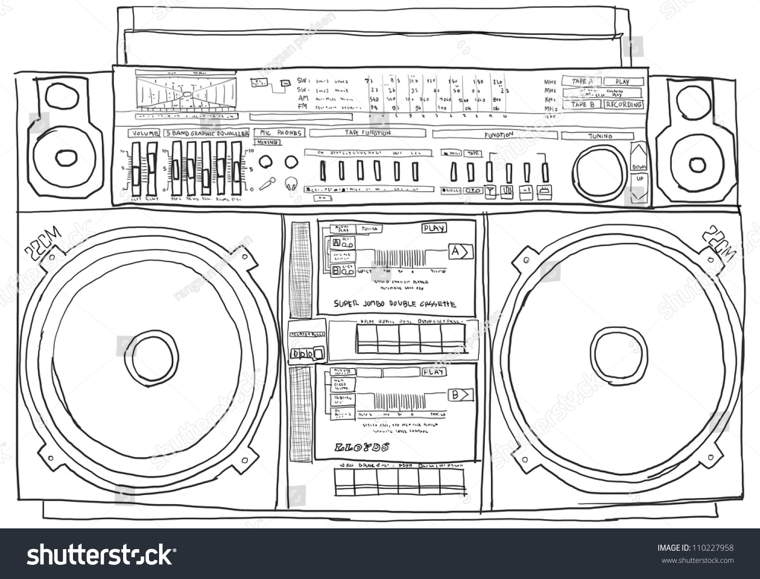 Amazing Boombox Coloring Pages Contemporary - Example Resume and ...