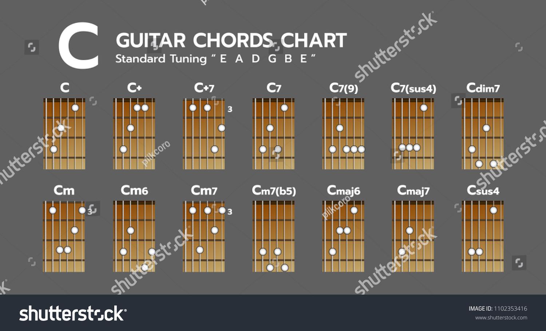 Set Chord Diagram Tab Tabulation Finger Stock Vector Royalty Free